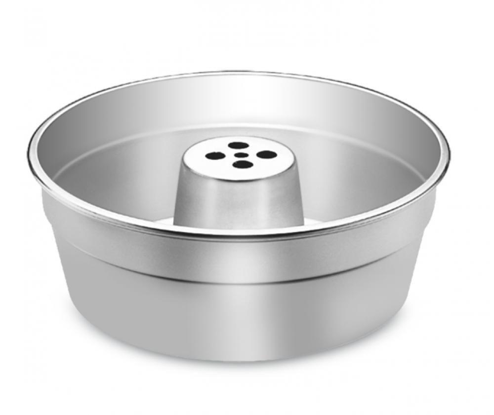 Forma de Bolo 25 cm - com Tubo - Alumínio ABC  - Lojão de Ofertas
