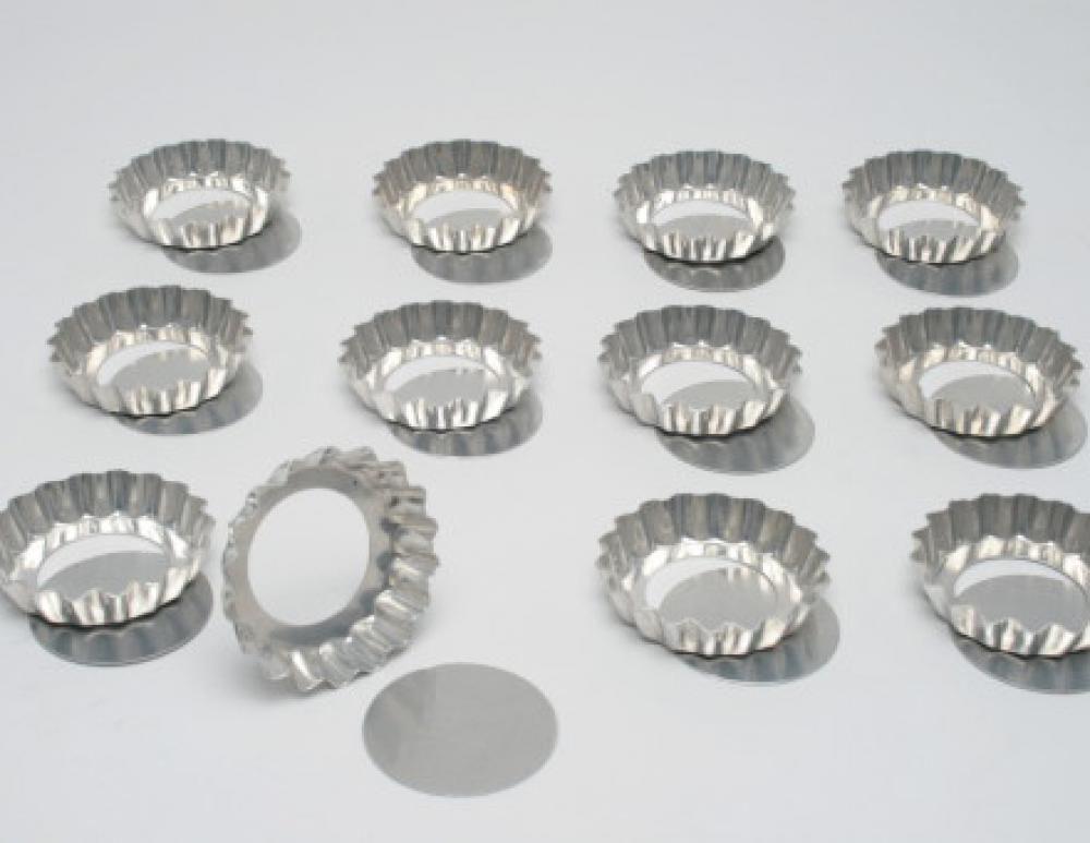 Forma de Mini Quiche/Torta de Maçã com Fundo Removível 9 cm (dúzia) - Doupan  - Lojão de Ofertas