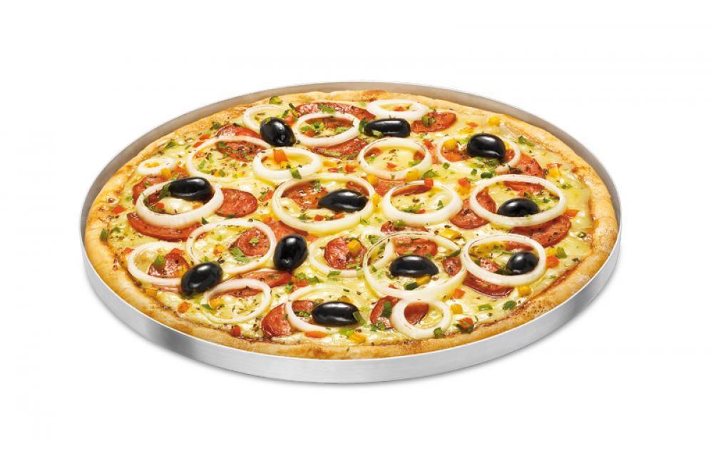 Forma de Pizza 30 cm - Alumínio ABC  - Lojão de Ofertas