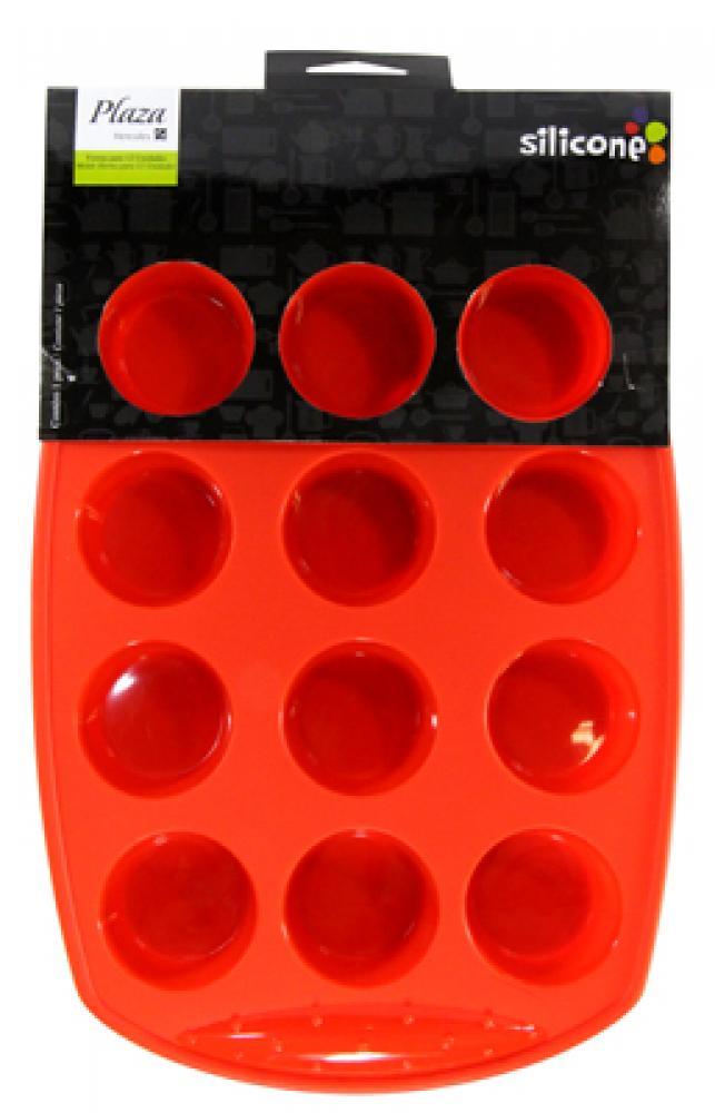 Forma de Silicone para 12 Mini Cupcakes - Hercules  - Lojão de Ofertas