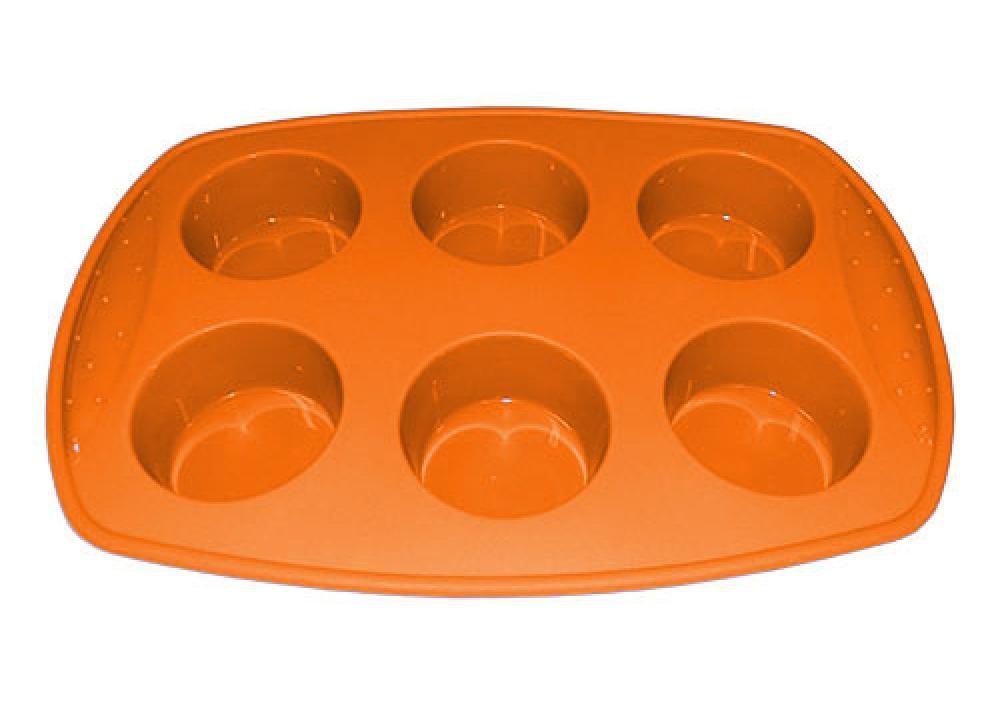Forma de Silicone para 6 Cupcakes e Muffins Grande - Hercules  - Lojão de Ofertas