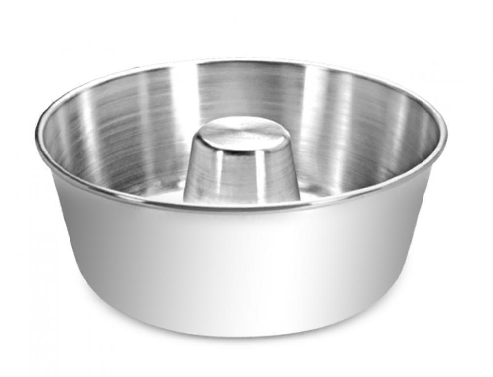 Forma para Pudim com tubo 24 cm - Alumínio ABC  - Lojão de Ofertas