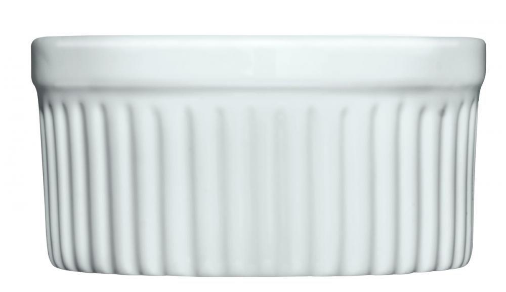 Forma Refratária Canelada (Ramekin) 10 cm - 240 ml - (6 unidades) - Germer  - Lojão de Ofertas