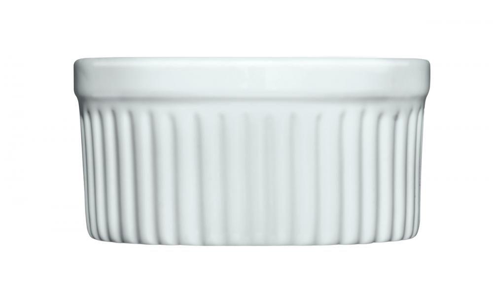 Forma Refratária Canelada (Ramekin) 7 cm - 75 ml - (6 unidades) - Germer  - Lojão de Ofertas