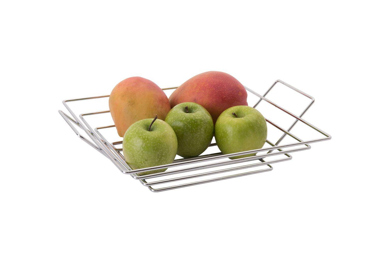 Fruteira Quadrada - Cromada - Azzo  - Lojão de Ofertas