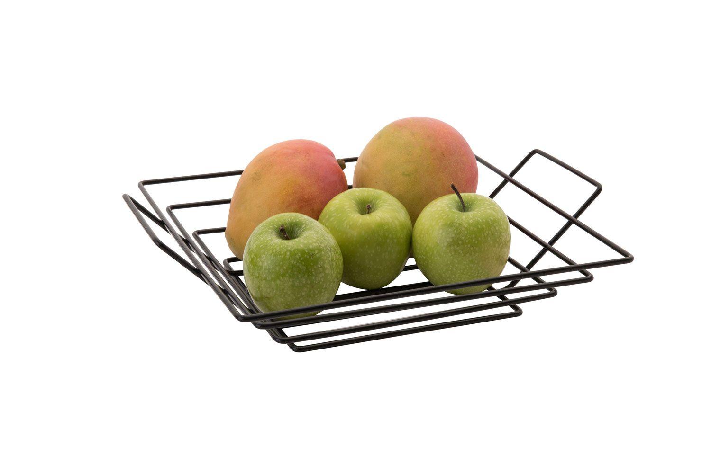 Fruteira Quadrada - Preta - Azzo  - Lojão de Ofertas