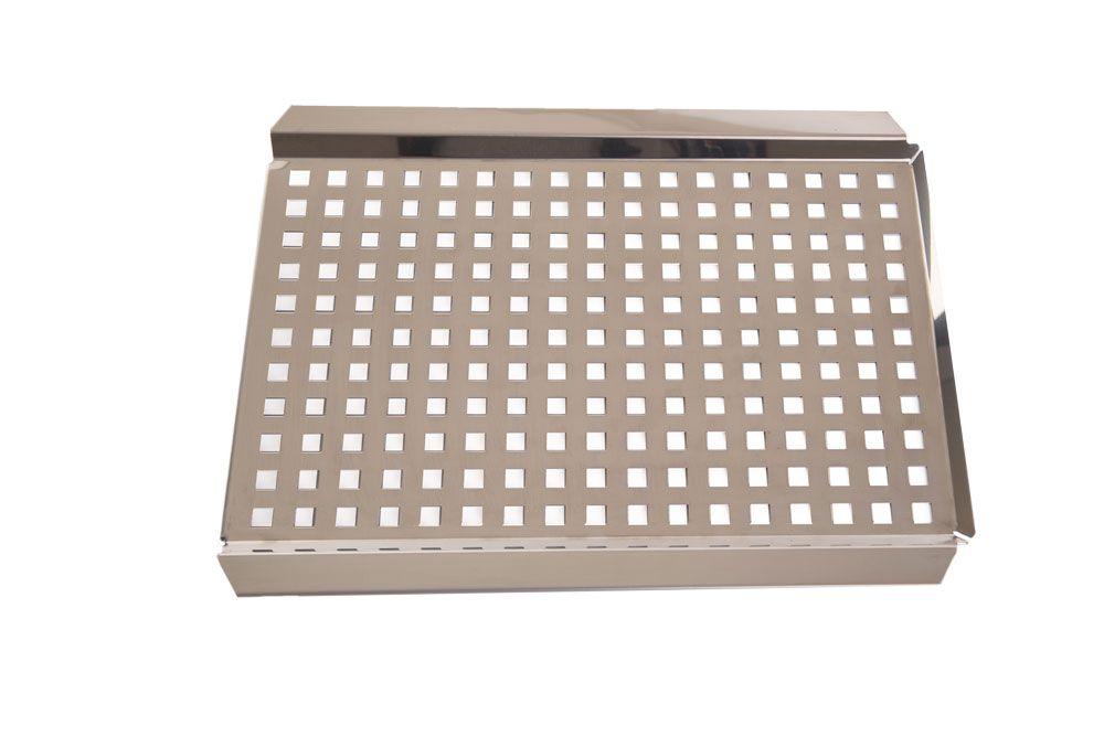 Grelha Inox 38 x 29 cm - 0,8 mm Espessura - Domama  - Lojão de Ofertas