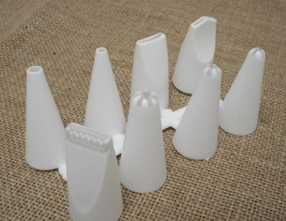 Jogo de Bicos Plásticos para Confeitar (8 peças) - Doupan  - Lojão de Ofertas