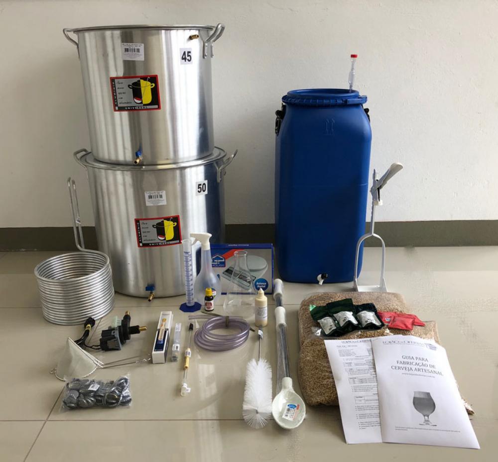 Kit Cervejeiro para Produção de 60L Cerveja Artesanal (com insumos) - 110v  - Lojão de Ofertas