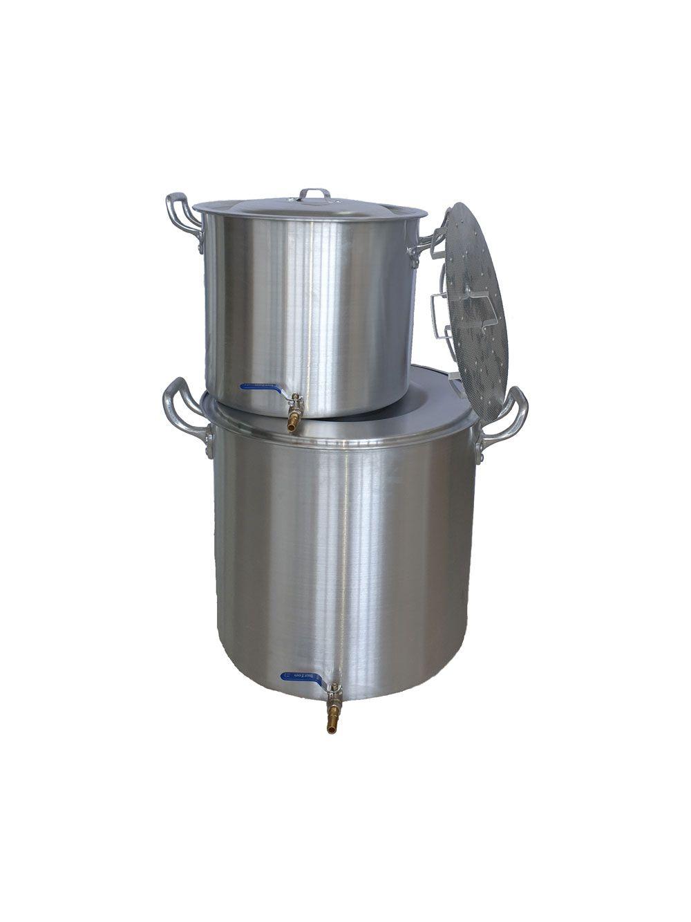 Kit de 2 Panelas para Produção de 30 litros de Cerveja Artesanal  - Lojão de Ofertas