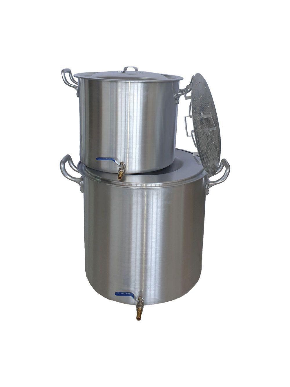Kit de 2 Panelas para produção de 60 litros de Cerveja Artesanal (faz até 70 litros)  - Lojão de Ofertas