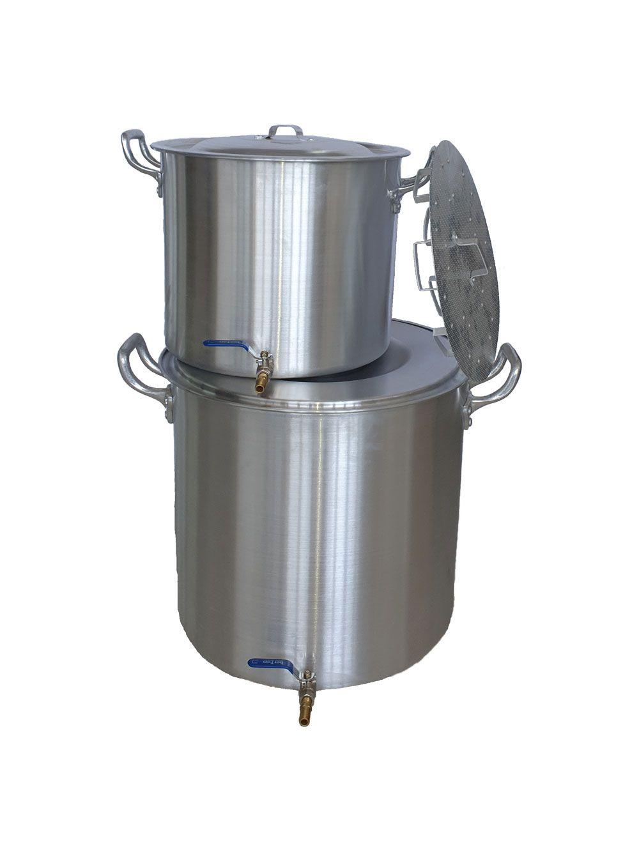 Kit de 2 Panelas para produção de 80 litros de Cerveja Artesanal (faz até 90 litros)  - Lojão de Ofertas