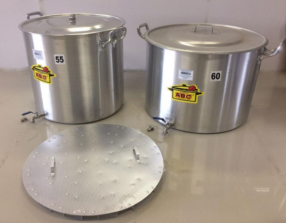Kit de 2 Panelas para Produção de 100 litros de Cerveja Artesanal  - Lojão de Ofertas