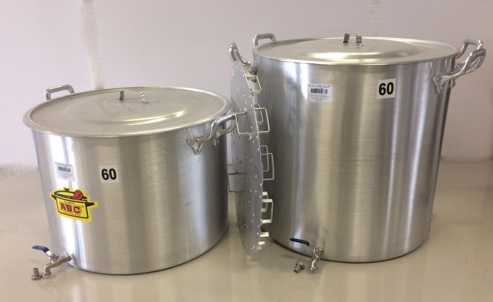 Kit de 2 Panelas para Produção de 140 litros de Cerveja Artesanal  - Lojão de Ofertas
