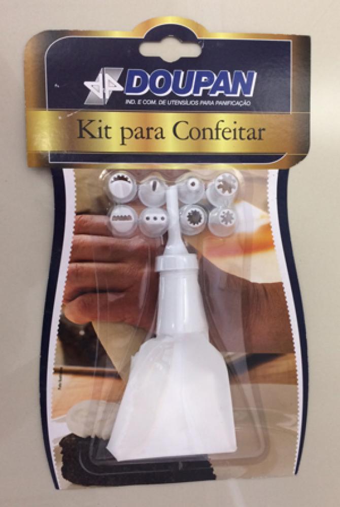 Kit p/ Confeitar com 8 Bicos - Doupan  - Lojão de Ofertas