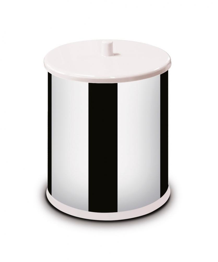 Lixeira Inox 3,2 litros - com Tampa e Fundo Brancos - Martinazzo  - Lojão de Ofertas