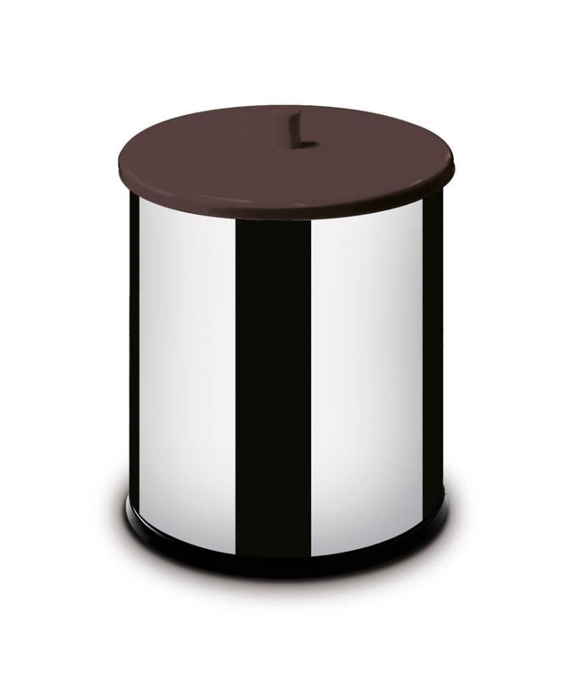 Lixeira Inox 3,2 litros - com Tampa e Fundo Pretos - Martinazzo  - Lojão de Ofertas