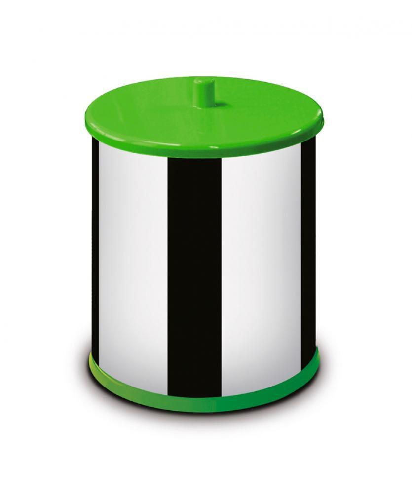 Lixeira Inox 3,2 litros - com Tampa e Fundo Verdes - Martinazzo  - Lojão de Ofertas