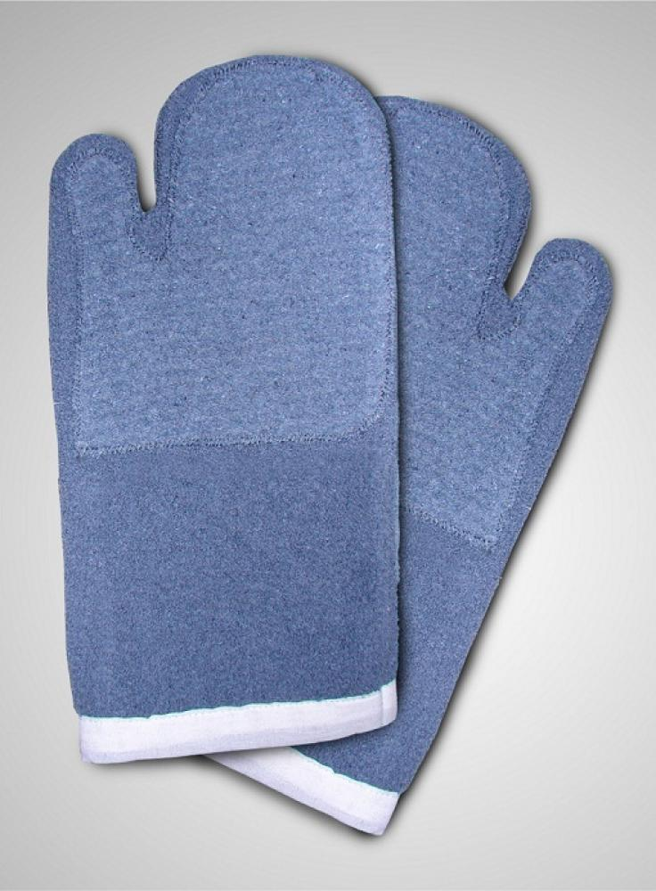 Luva Grafatex Azul Cano Curto Dupla 35 x 18 cm - Lamare  - Lojão de Ofertas