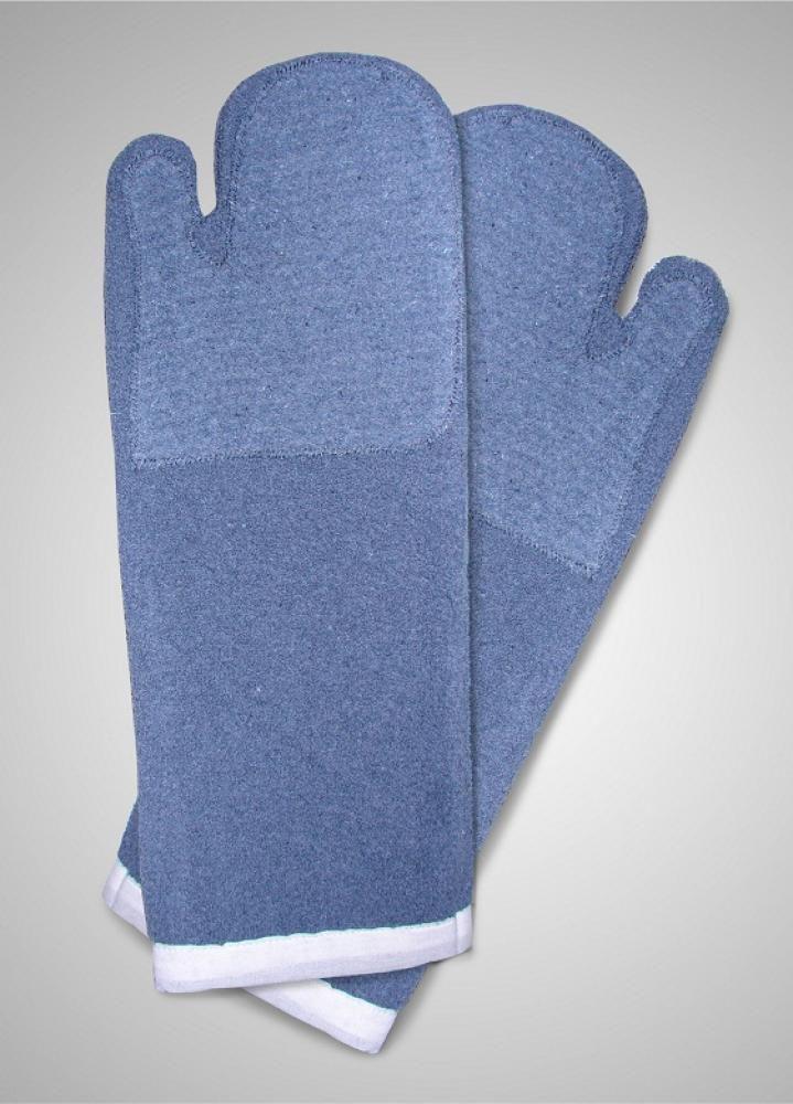 Luva Grafatex Azul Cano Longo Dupla 50 x 18 cm - Lamare  - Lojão de Ofertas