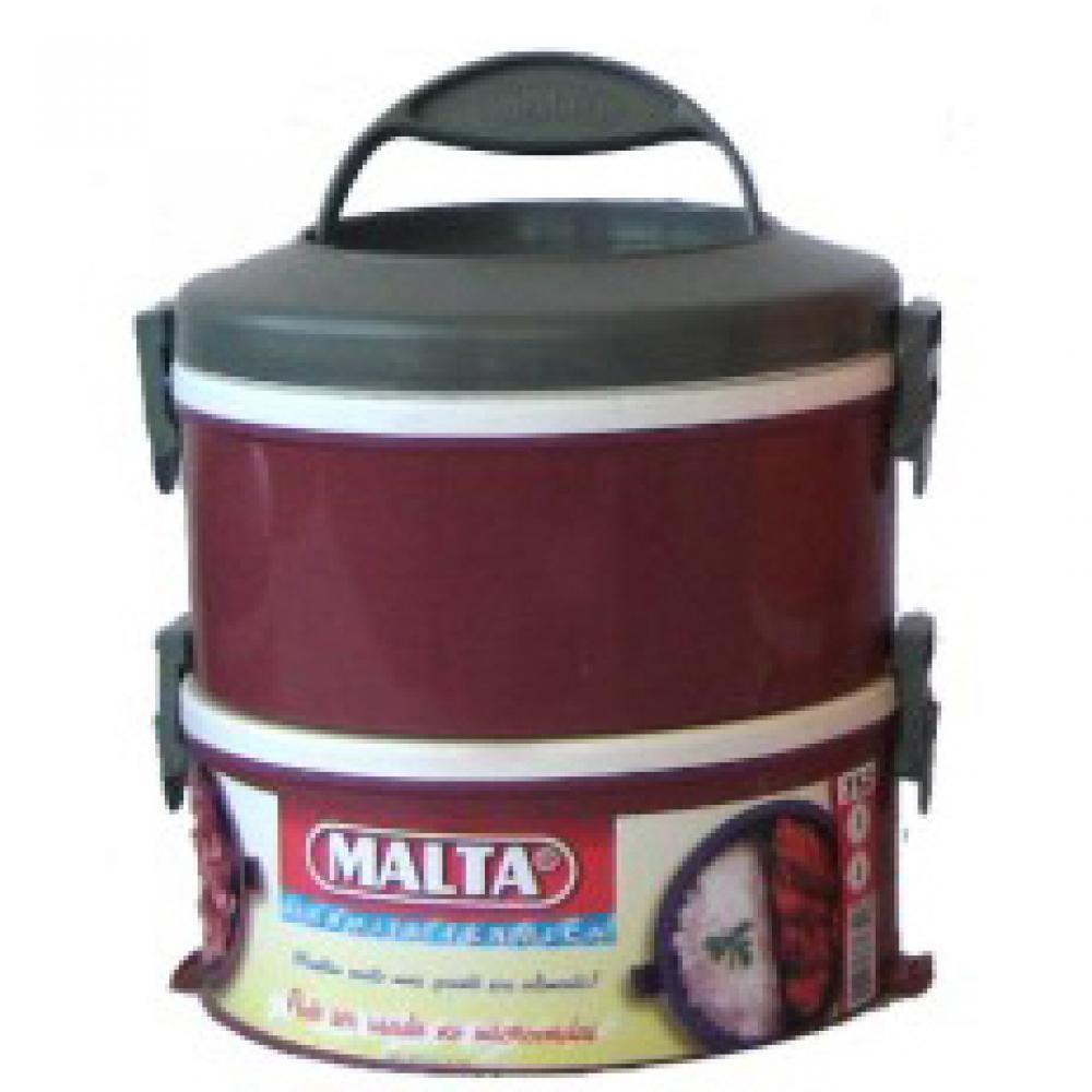 Marmita Térmica com Presilhas 2 Andares  - Malta  - Lojão de Ofertas