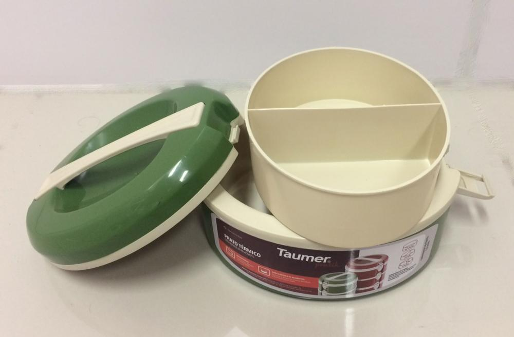 Marmita Térmica Verde - 2 divisórias - Taumer  - Lojão de Ofertas