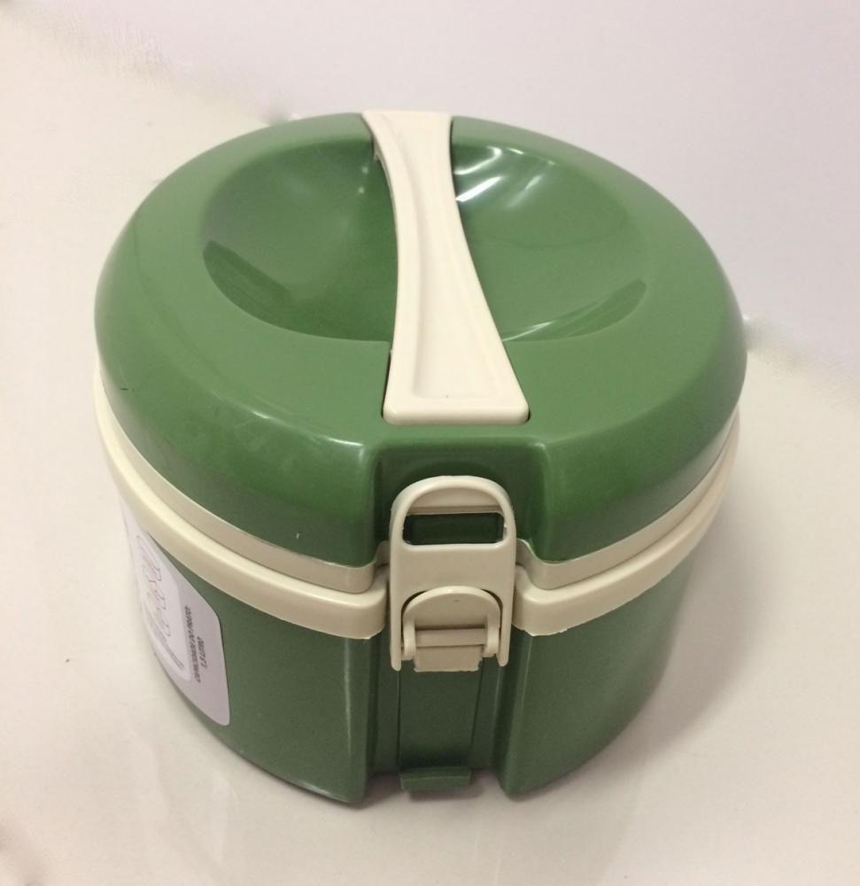 Marmita Térmica Verde - 3 divisórias - Taumer  - Lojão de Ofertas