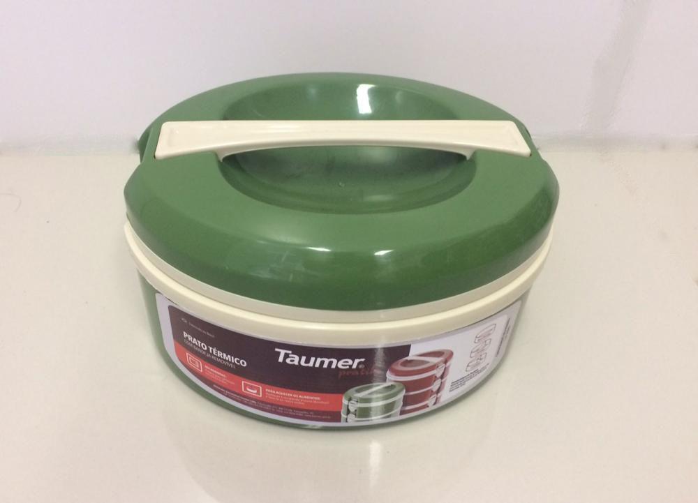 Marmita Térmica Verde - sem divisória - Taumer  - Lojão de Ofertas
