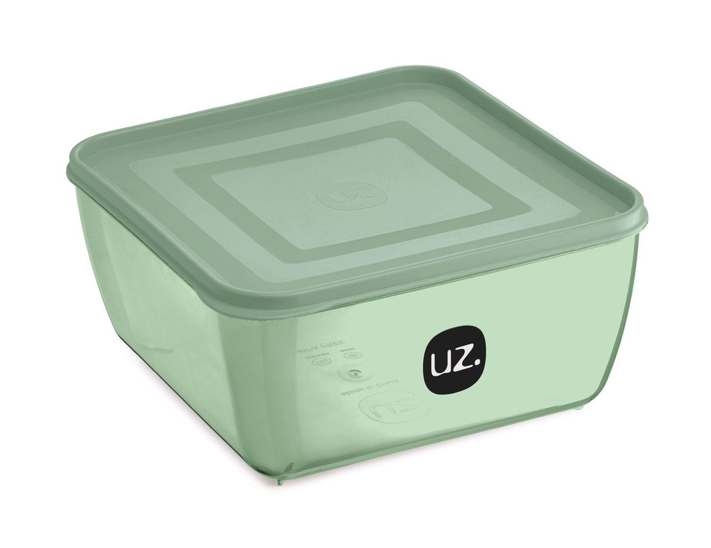 Multiuso Quadrado 1,5 litros Verde - Linha Vision - UZ Utilidades  - Lojão de Ofertas