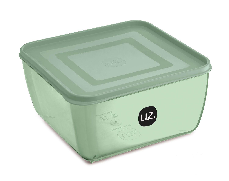 Multiuso Quadrado 2,5 litros Verde - Linha Vision - UZ Utilidades  - Lojão de Ofertas
