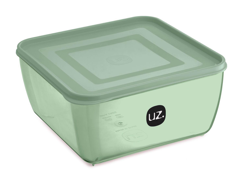Multiuso Quadrado 5 litros Verde - Linha Vision - UZ Utilidades  - Lojão de Ofertas