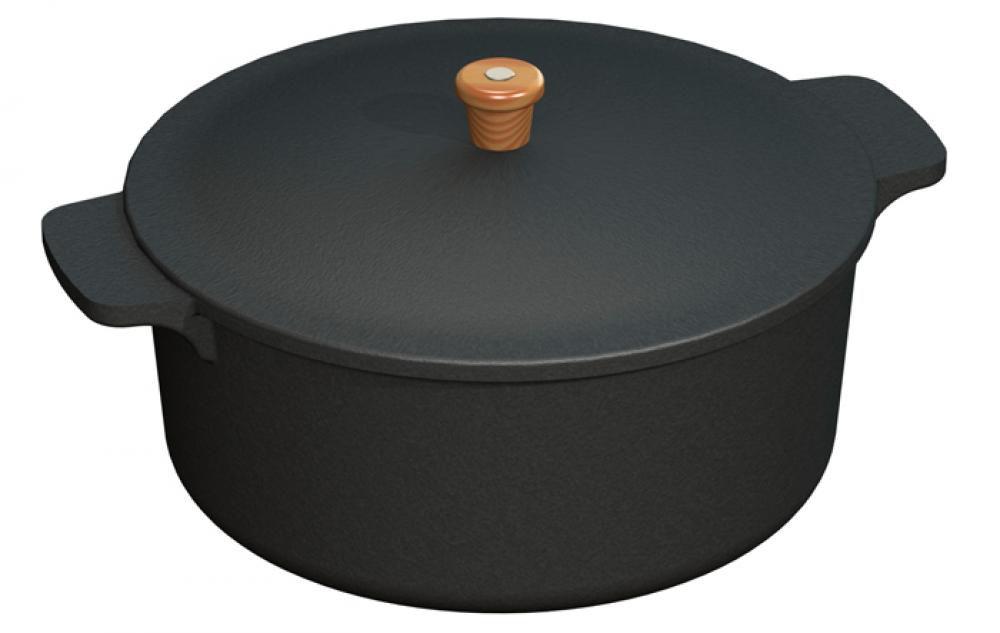 Panela de Ferro 30 cm - 8 litros - CB  - Lojão de Ofertas