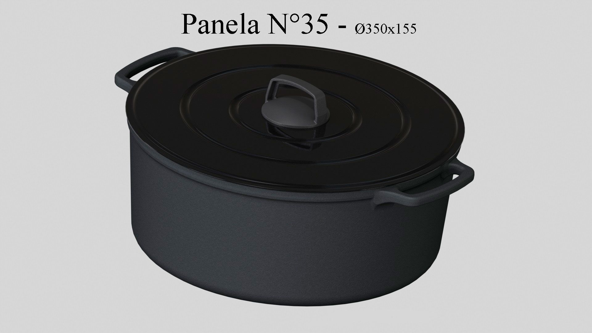 Panela de Ferro 35 cm - 13 litros - CB  - Lojão de Ofertas