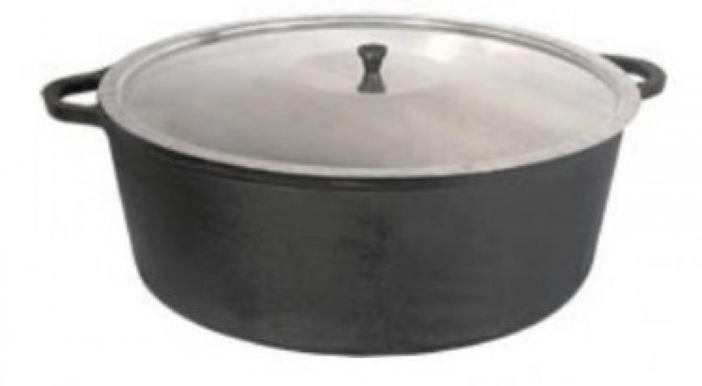 Panela de Ferro Baixa 46 cm - 22,5 litros - Fundição Estrela  - Lojão de Ofertas