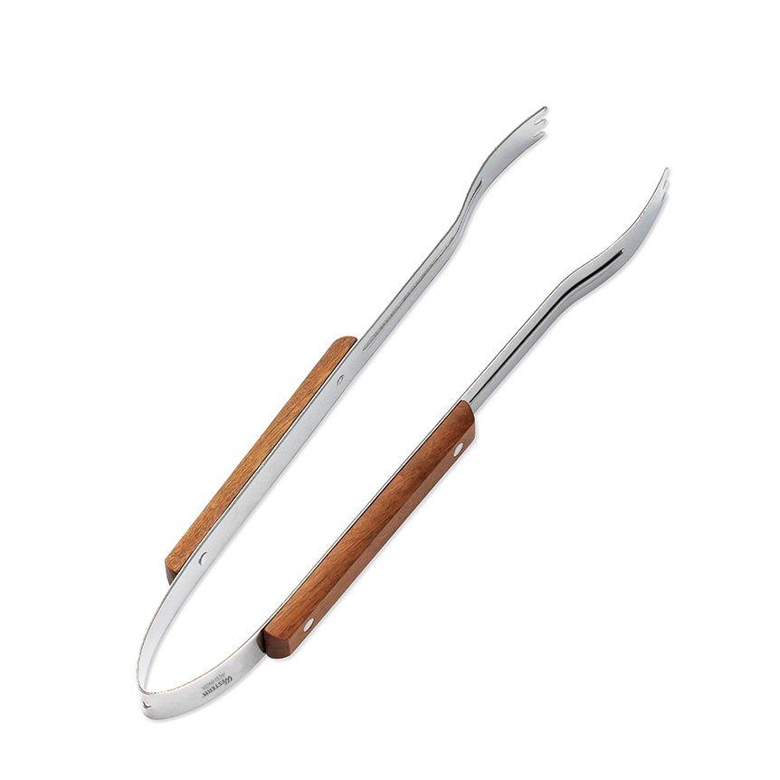 Pegador de Churrasco 38 cm cabo madeira - Etilux  - Lojão de Ofertas