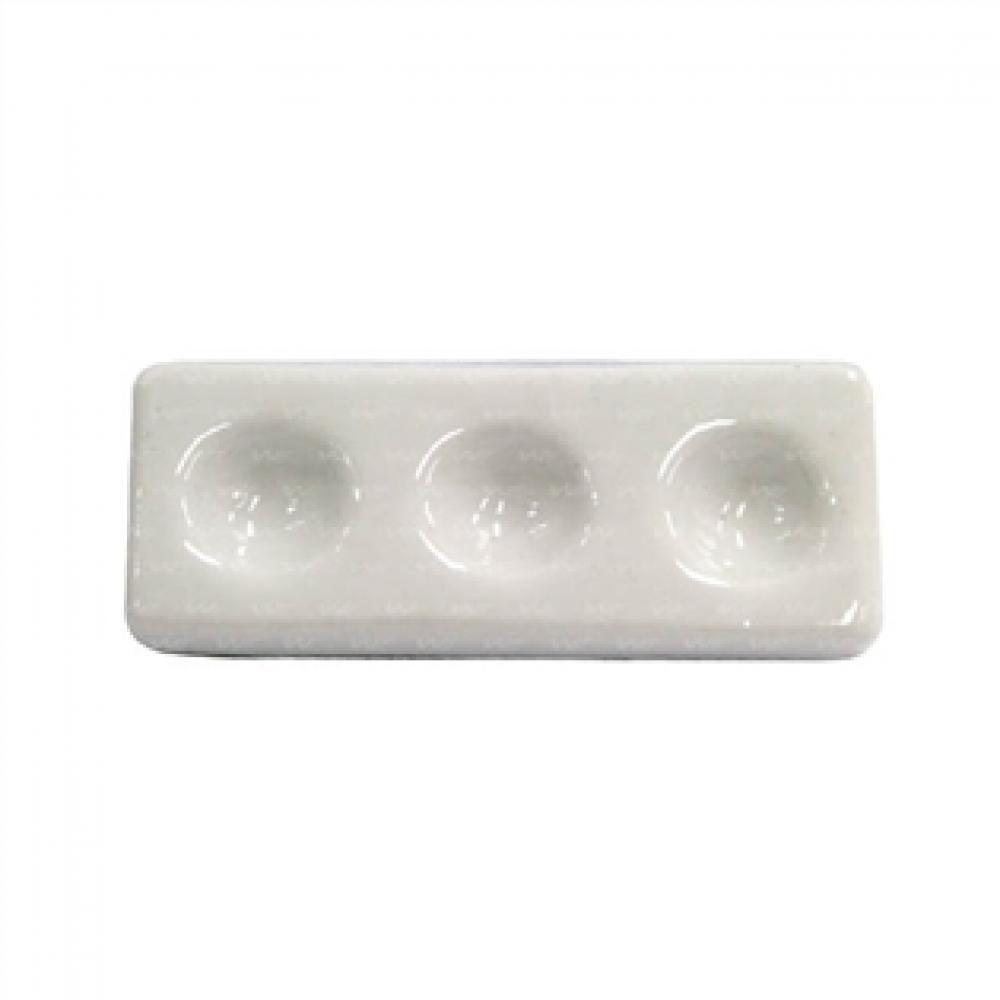 Placa de Toque de 3 Cavidades em Porcelana para Teste do Iodo  - Lojão de Ofertas