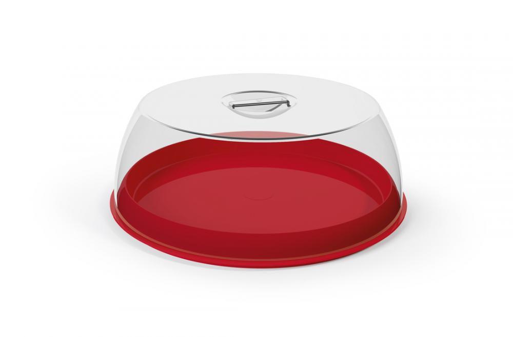 Porta Bolo Plus Vermelho - UZ Utilidades  - Lojão de Ofertas