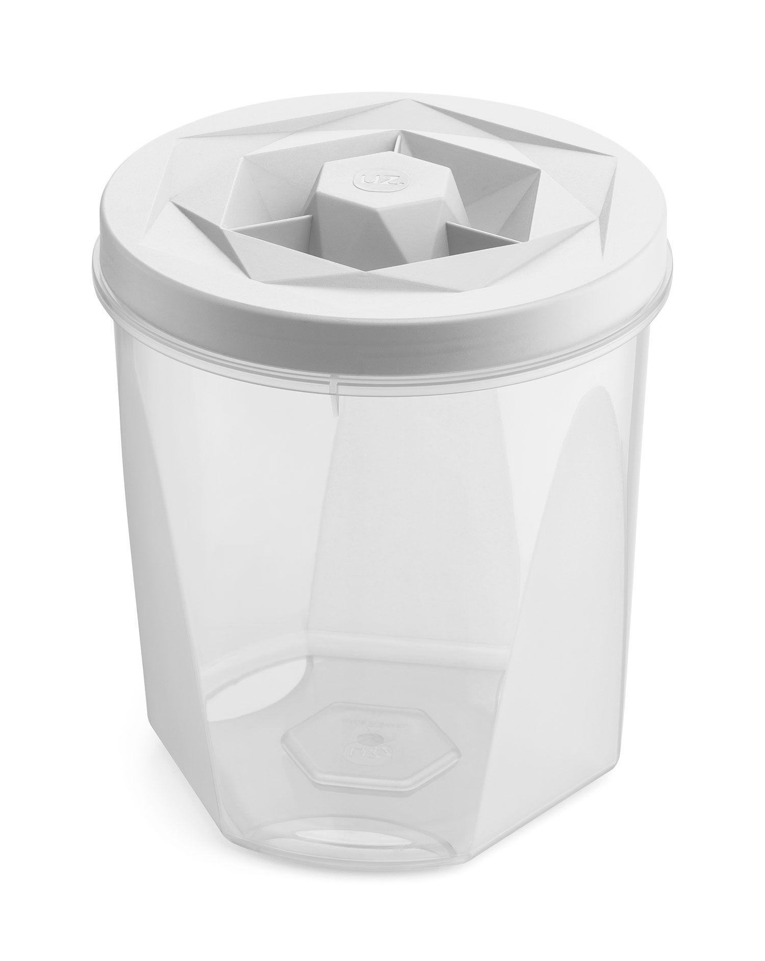 Porta Mantimentos 2 litros Branco - Linha Vision - UZ Utilidades  - Lojão de Ofertas