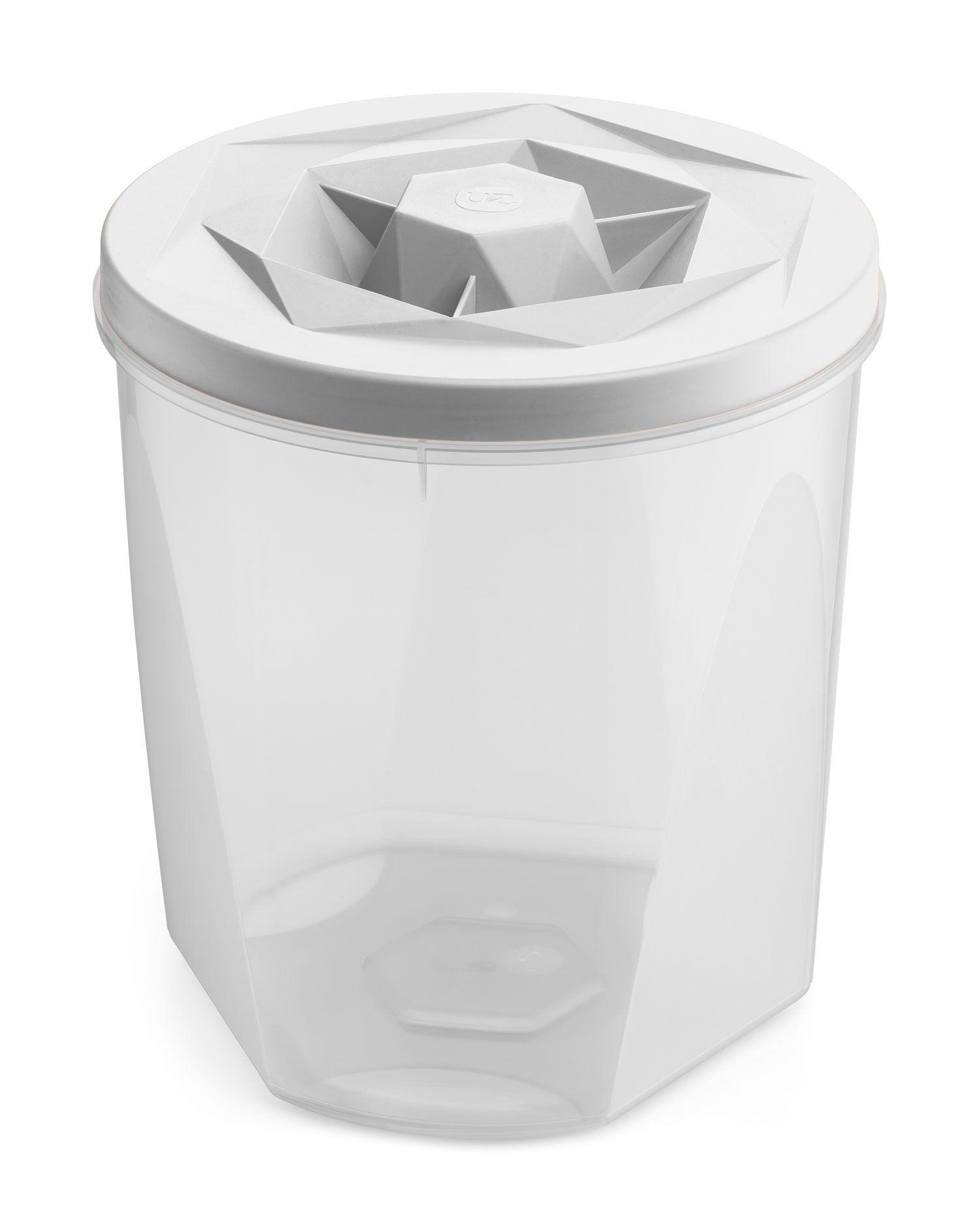 Porta Mantimentos 5,1 litros Branco - Linha Vision - UZ Utilidades  - Lojão de Ofertas
