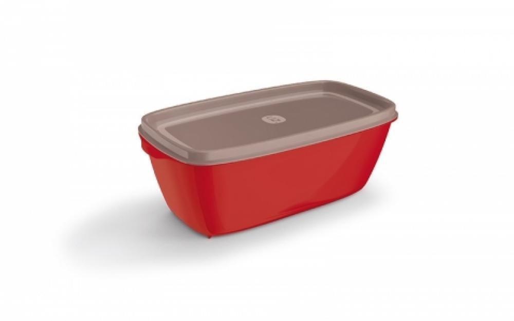 Pote Retangular 1,5 litros Vermelho - UZ Utilidades  - Lojão de Ofertas