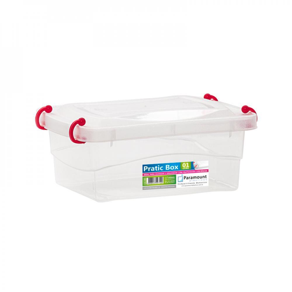 Pratic Box 1 litro - 18 x 13 x 7 cm - Paramount  - Lojão de Ofertas