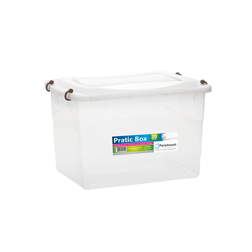 Pratic Box 20 Litros - 41 x 29 x 25 cm - Paramount  - Lojão de Ofertas