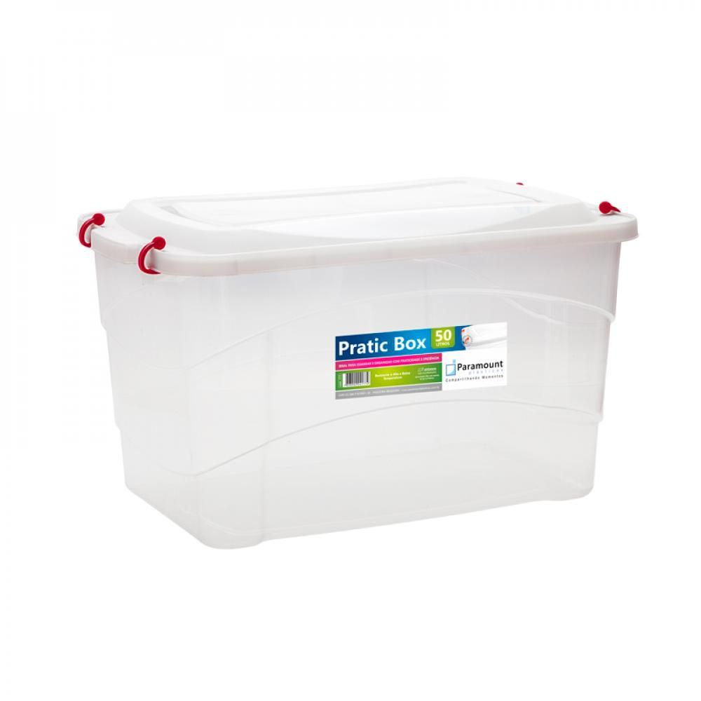 Pratic Box 50 Litros - 59 x 38 x 34 cm - Paramount  - Lojão de Ofertas