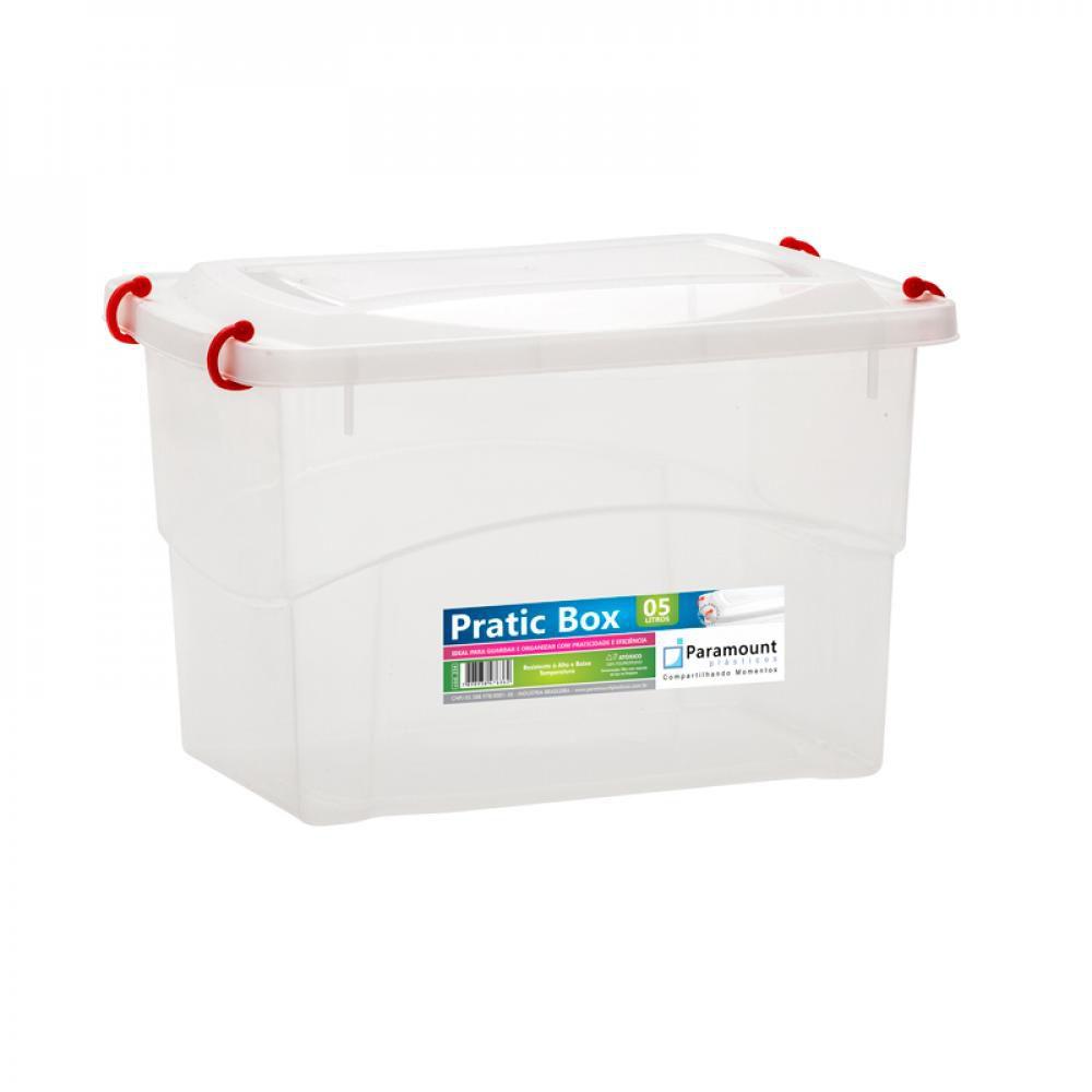 Pratic Box 5 litros - 27 x 18 x 17 cm - Paramount  - Lojão de Ofertas