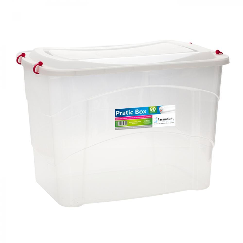 Pratic Box 90 Litros - 66 x 44 x 45 cm - Paramount  - Lojão de Ofertas