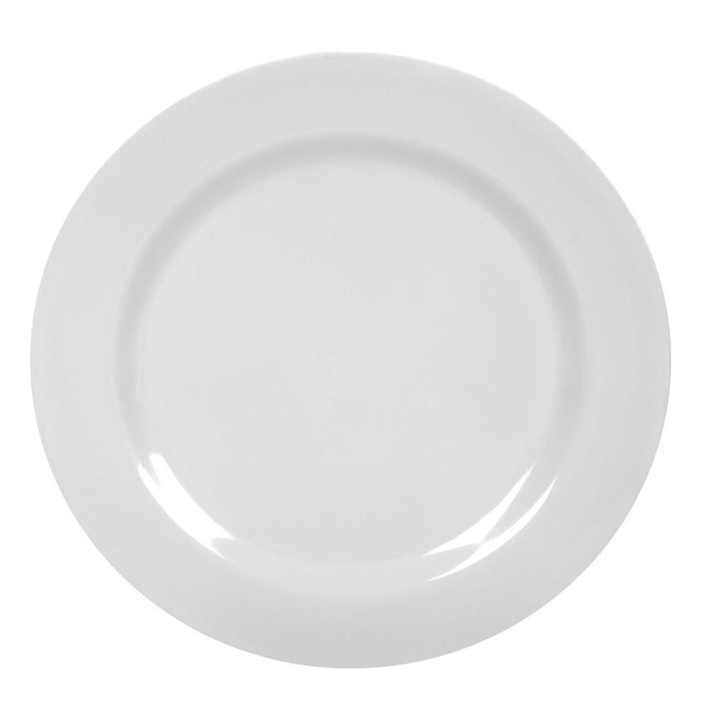 Prato Sobremesa Melamina Branco 18 cm - Yangzi  - Lojão de Ofertas
