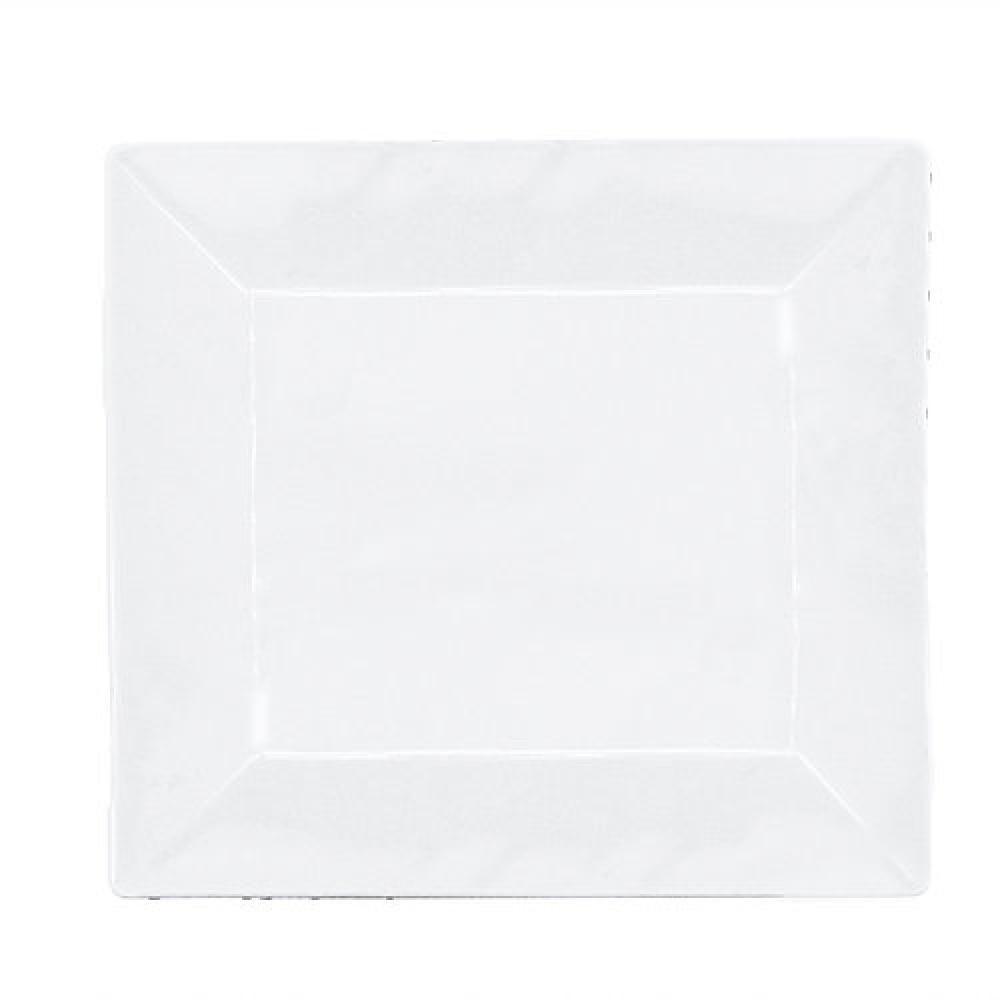Prato Sobremesa Quadrado Melamina Branco 20 cm - Yangzi  - Lojão de Ofertas