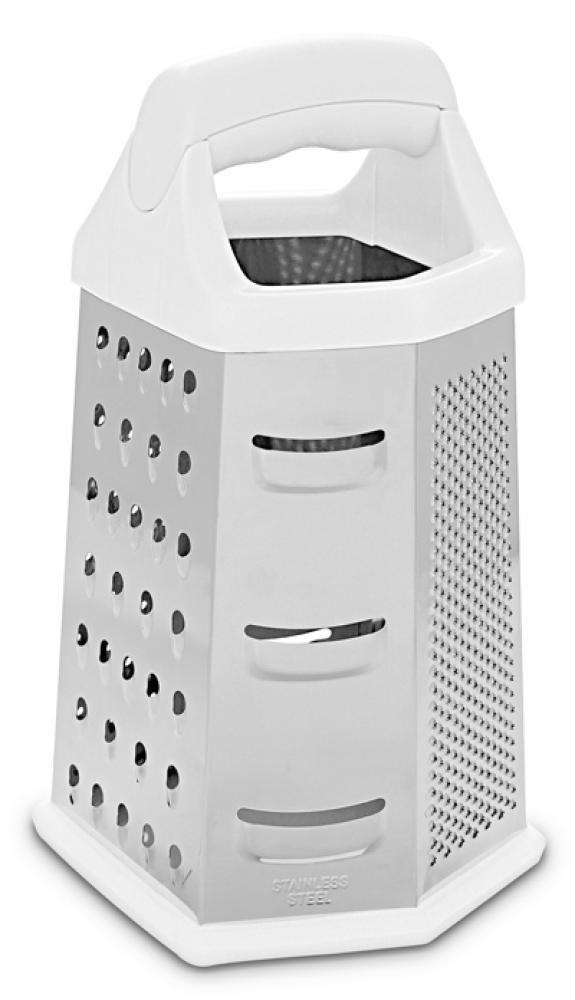 Ralador 6 Faces Inox 27 cm - Plaza - Hercules  - Lojão de Ofertas