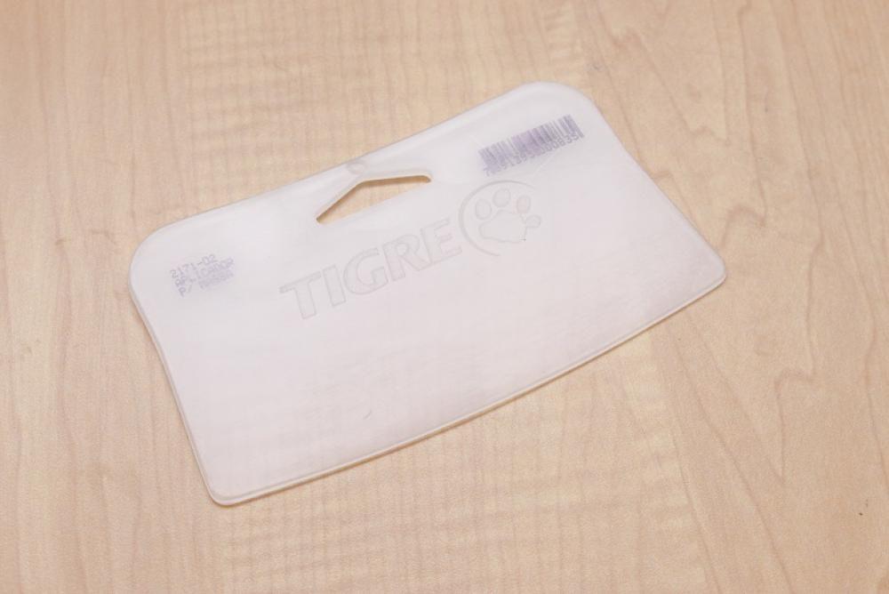 Raspador Plástico (Aplicador para massa) sem Cabo - Tigre n. 2 - Doupan  - Lojão de Ofertas
