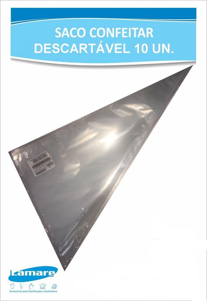 Saco de Confeitar Descartável 41 x 24 cm (10 unidades) - Lamare  - Lojão de Ofertas